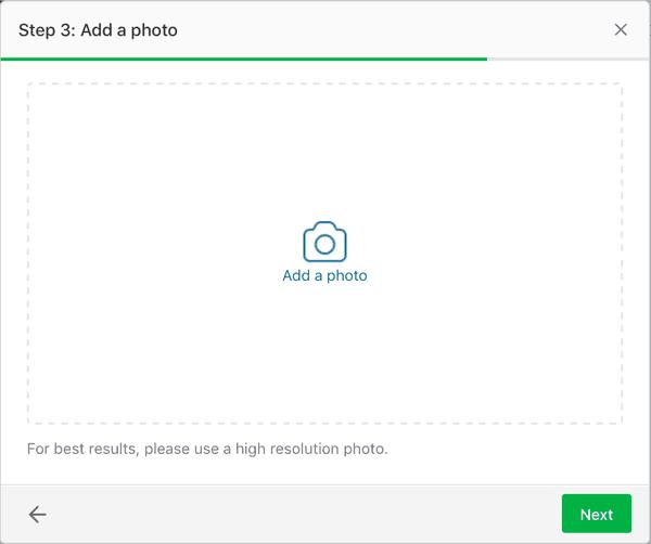 Add a photo to a Nextdoor Offer