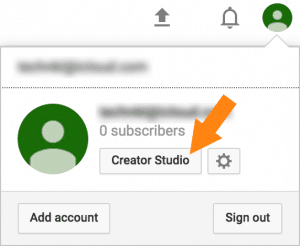 Access YouTube Creator Studio