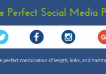 The perfect social media post: the perfect combination of length, links, and hashtags.