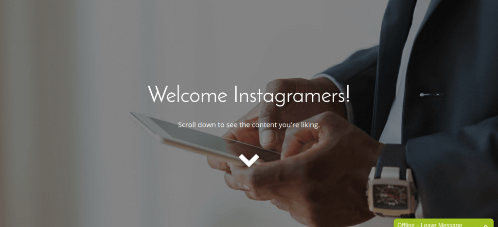 Your Brand by Nick Leffler Instagram Landing Page