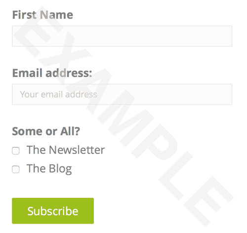 Exprance Brief Email List Signup Request Form