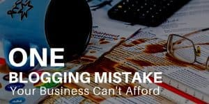 The one blogging mistake your business can't afford over coffee spilled on pile of papers.