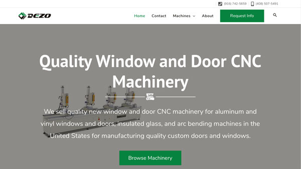 CNC Machinery Catalog Website