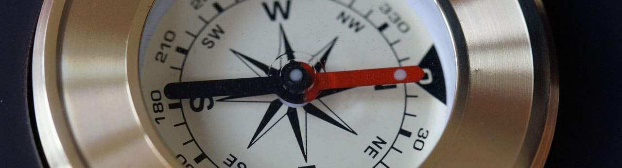 Finding your direction with a compass