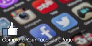 Complete Your Small Business Facebook Page