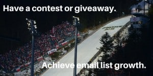 Achieve email list growth with a giveaway