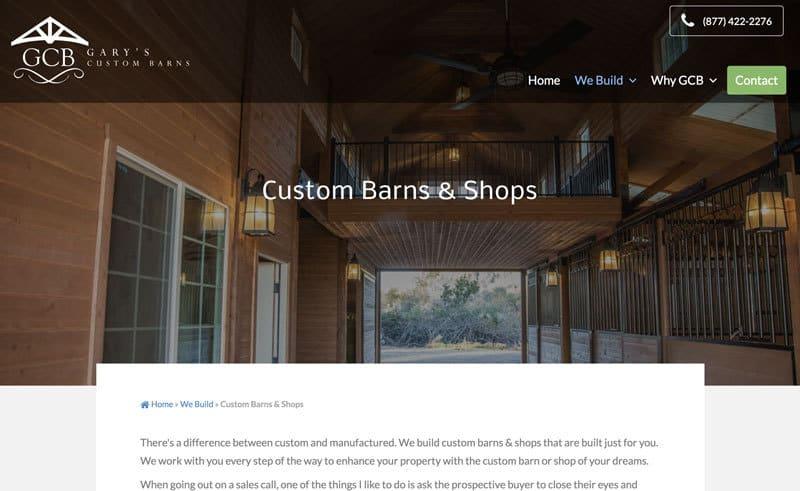 Contractor Responsive Website Hero Intro