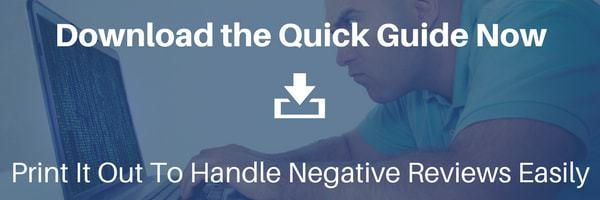 Download the Handle Negative Online Review Quick Guide
