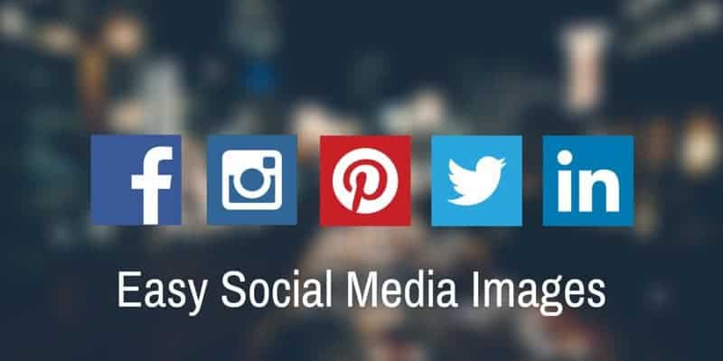 Social media icons with easy social media images.