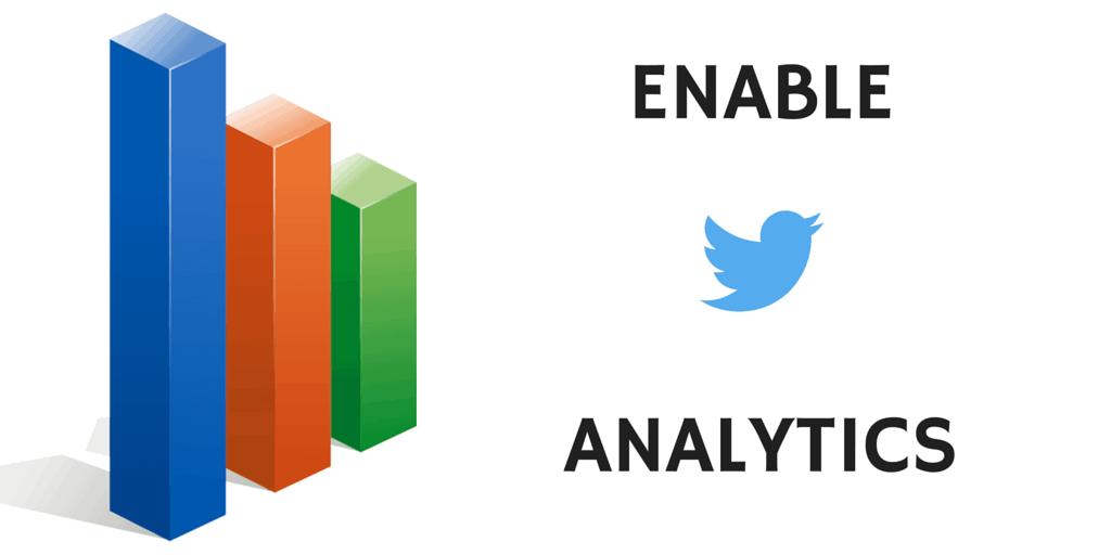 Enable Twitter Analytics to fully benefit from social media.
