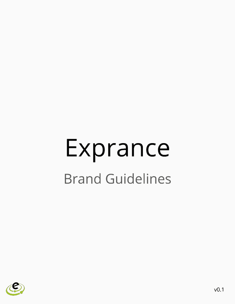 Exprance Brand Guidelines