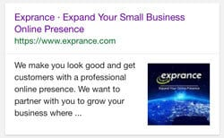 Exprance Google Mobile Search Results