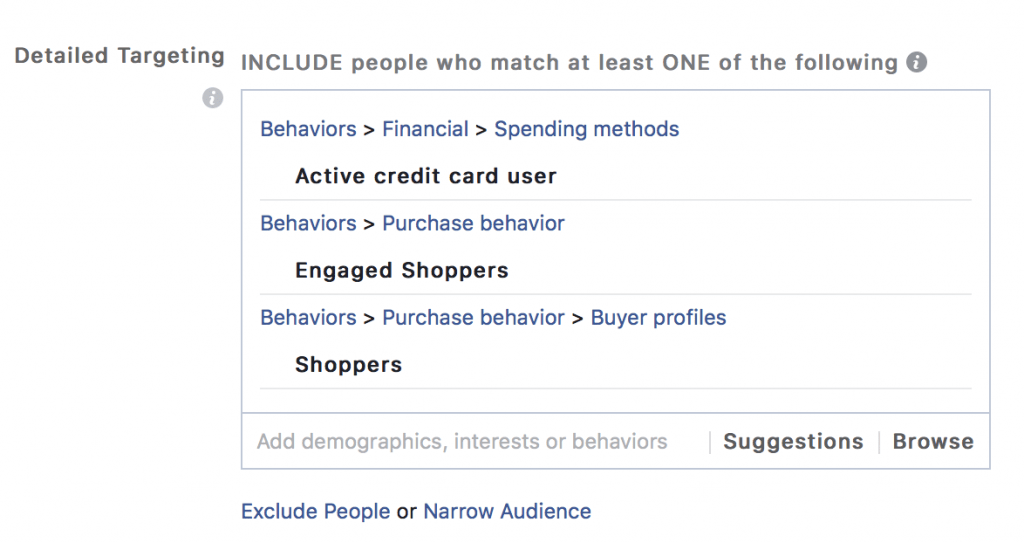 Facebook Detailed Advertising Targeting