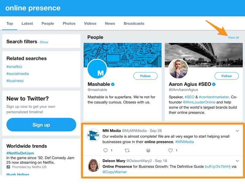Find social media influencers on Twitter