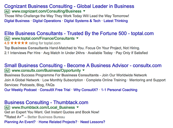 Google ads business consultant sales pitches