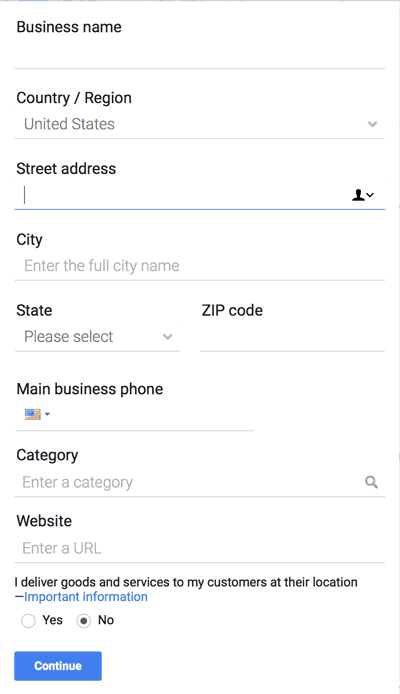 Google My Business Profile Setup