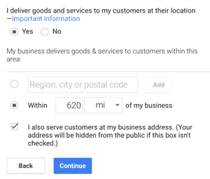 Google My Business Deliver Goods Confirmation