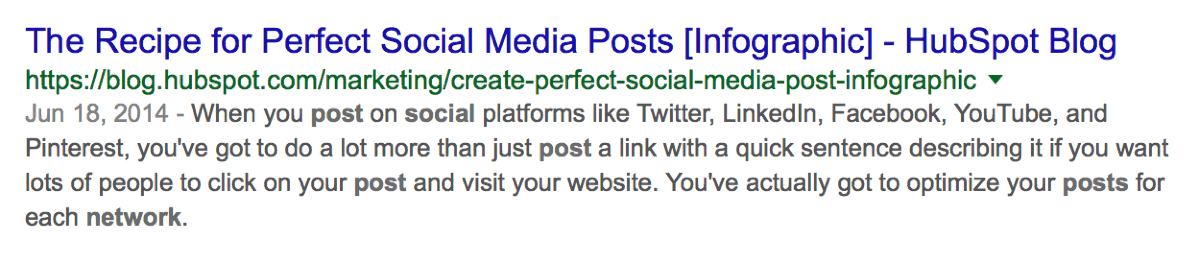 Google Search Perfect Social Media Post