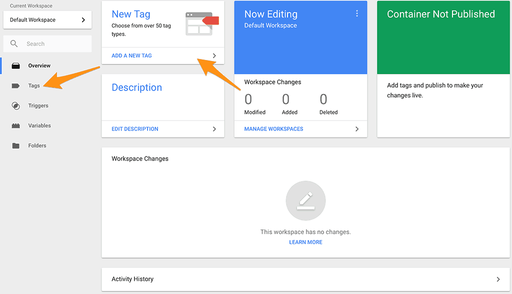 Google Tag Manager Add Tags