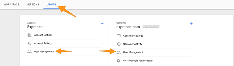 Google Tag Manager Delegate Access
