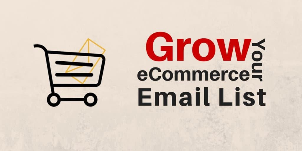Grow your eCommerce email list with picture of shopping cart with letter in it.
