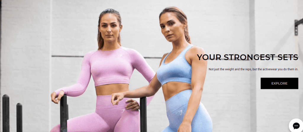 Gymshark Home Page Hero