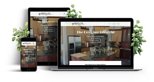 Hersh & Son Custom Cabinets and Construction responsive business website.