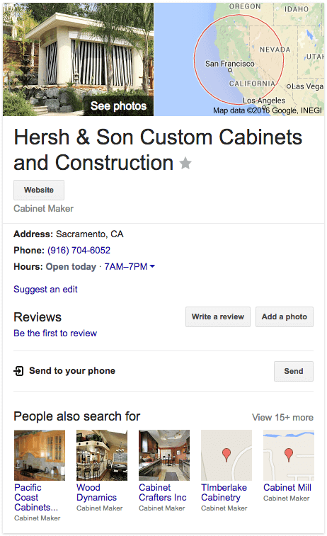 Hersh & Son Google Biz Result