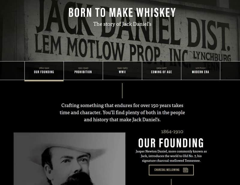 Jack Daniels Brand Story