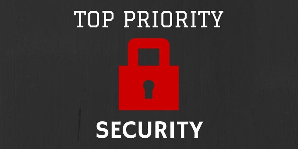 Your top priority should be to keep customer data secure.
