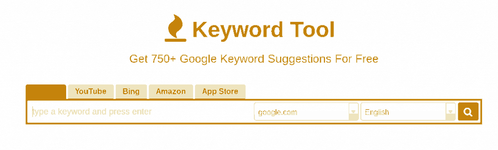 Keyword Tool Search Box