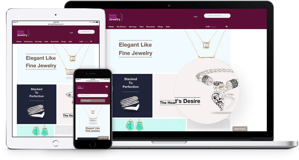 Lovely Leffler Jewelry Responsive eCommerce Website