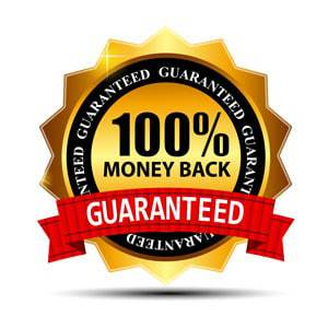 100% Money Back Guaranteed Certificate
