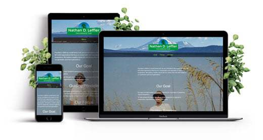 Non-Profit Responsive Single Page Website