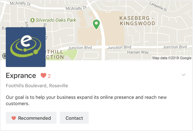 Nextdoor Business Page Visitor View