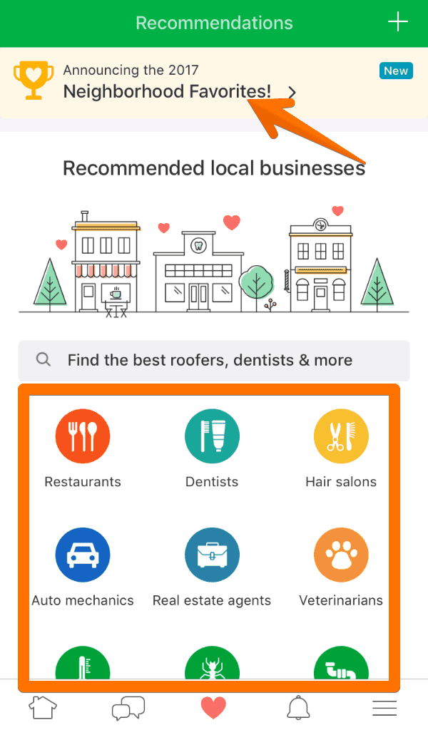Nextdoor Business Recommendations Tab