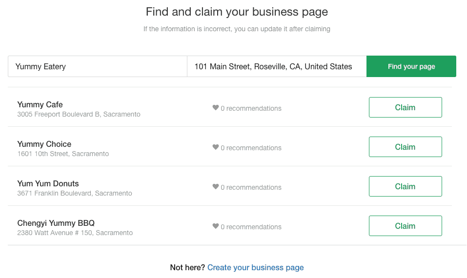 Nextdoor Find and Claim Business Page Search