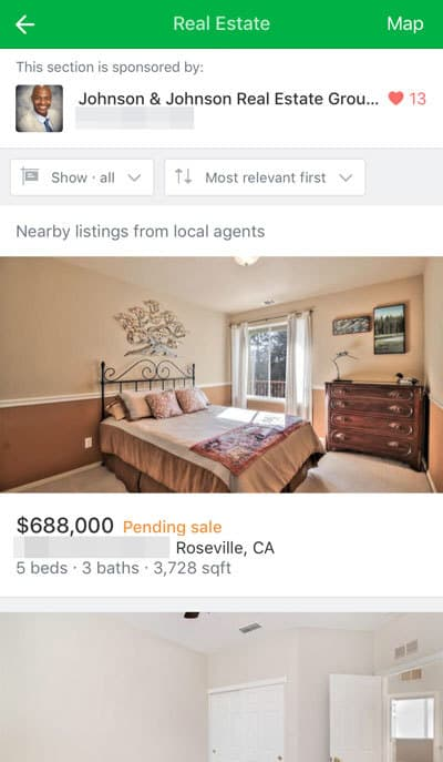 Nextdoor Real Estate Ad Page