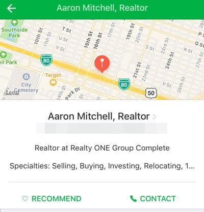 Nextdoor Real Estate Agent Business Page