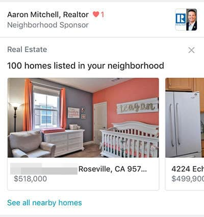 Nextdoor Real Estate Primary Feed Ad