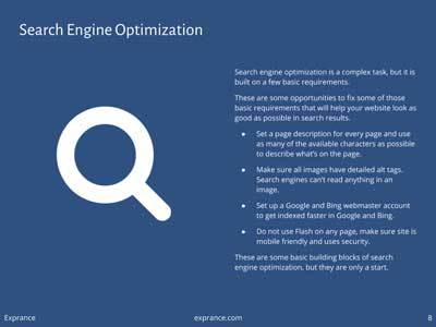 Online Presence Report Search Engine Optimization