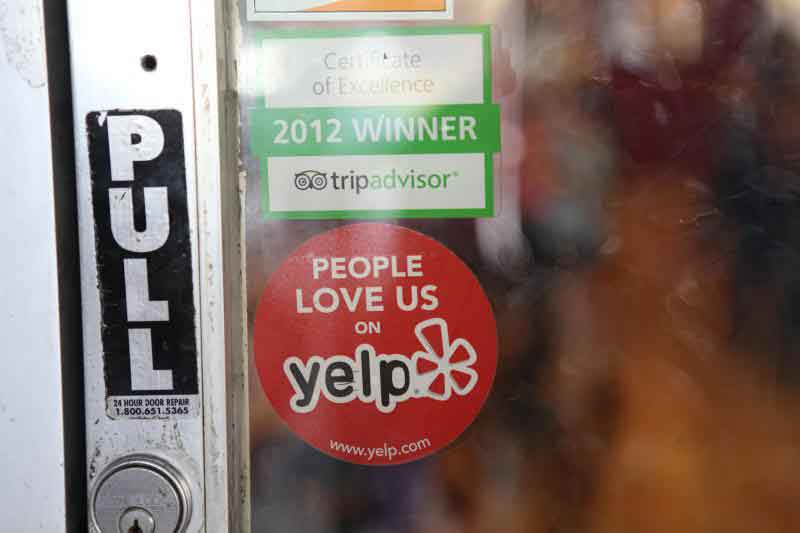People Love Us On Yelp Business Door Sticker