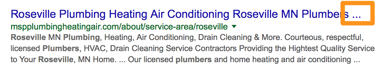 Plumbers Roseville Search Result Ellipsis