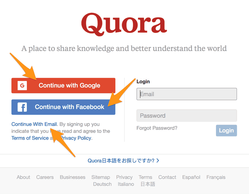 Quora Account Sign Up