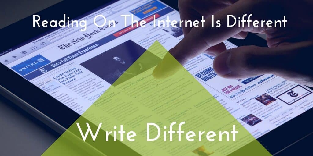 Reading On The Internet Isn't Really Like Reading - So Write For The Internet