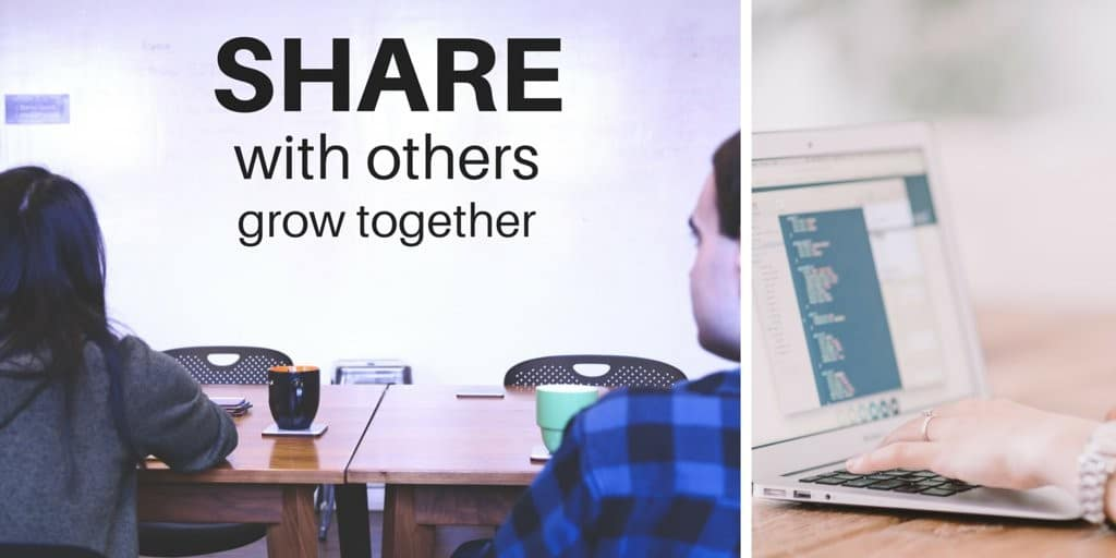 Share with others to grow together.