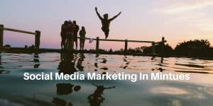 Social media marketing in minutes, all with ease.