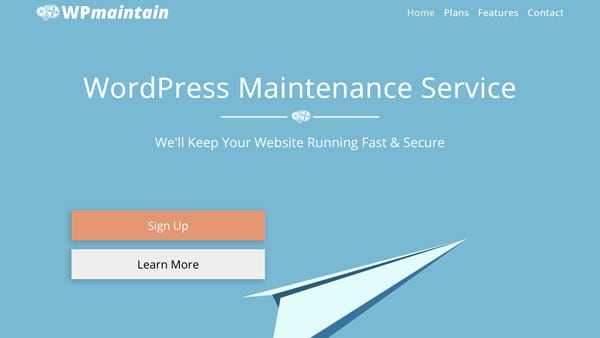 WordPress Maintenance Website