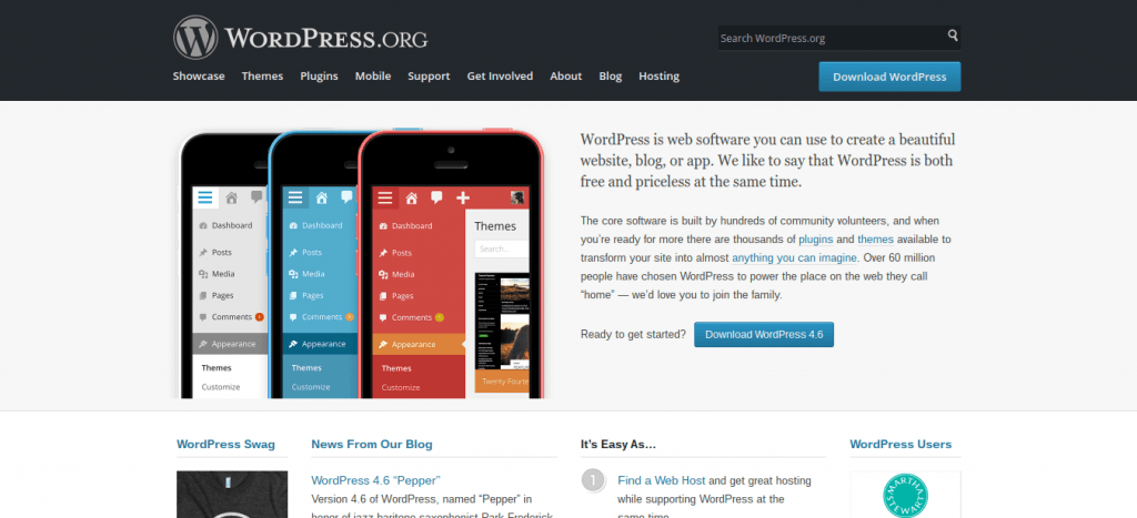 WordPress.org Hompage