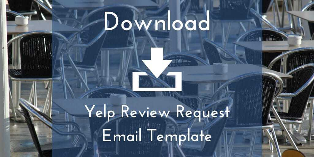 Get The Yelp Review Request Email Template